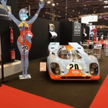 Racing Legend Car - Statue Michel Bosio Retromobile - réplique porsche 917